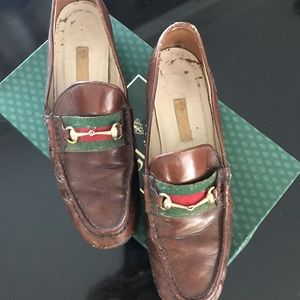 Gucci Shoes - Gucci vintage horse bit brown leather loafers